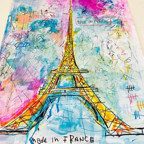 tour de Eiffel paper 11x14