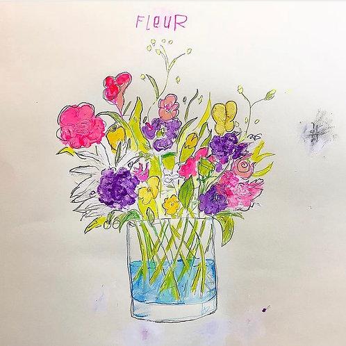Fleur Pink 16x12