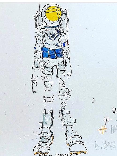 MoonMan (Paris Series) 11x14 paper