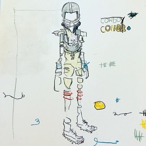 Cowboy Collar 11x14 paper