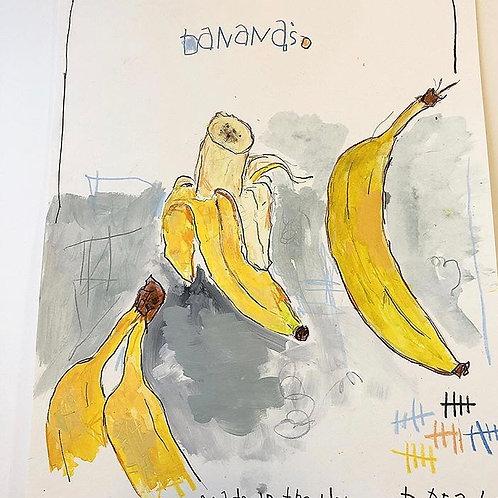 Bananas 11x14 paper