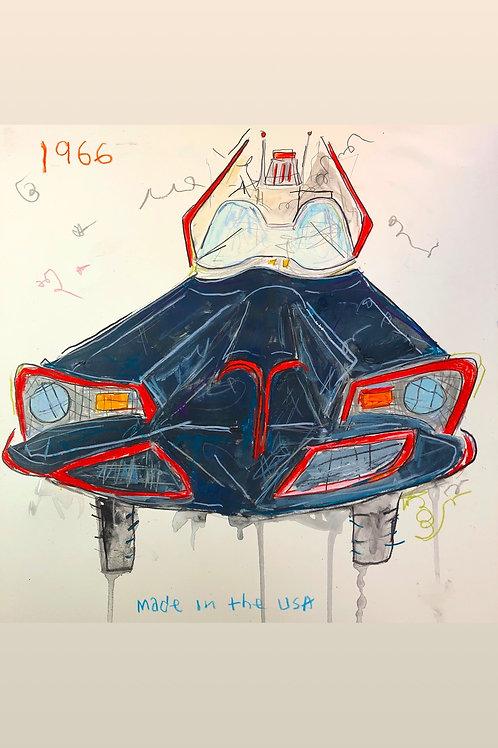 Batmobile 1966 16x20 paper