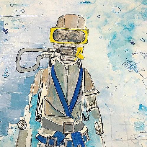 WetSuit Diver 36x24 paper