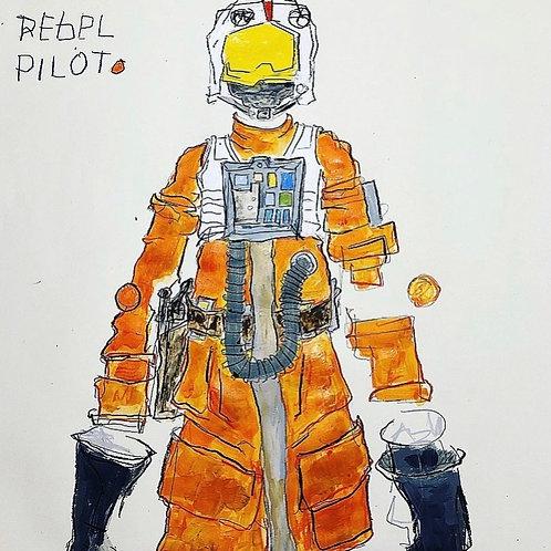 Rebel pilot 36x24 (paper)