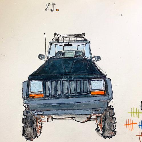 Xj Jeep 8x10 paper