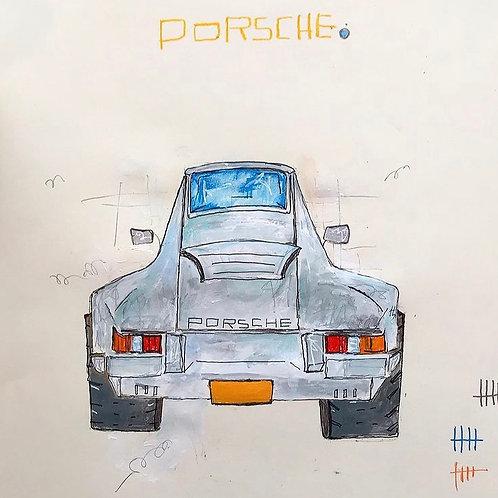 Porsche Silver 11x14