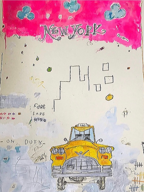 New York Taxi 36x24