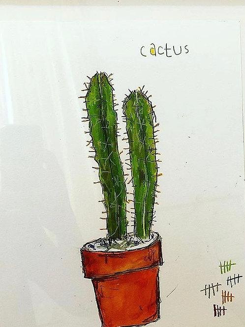 Cactus (paper) 11x14