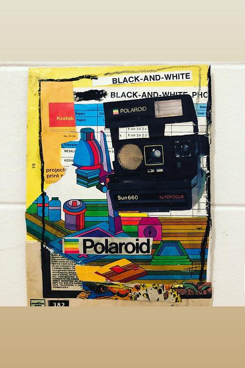 Polaroid 8x10 mixed media