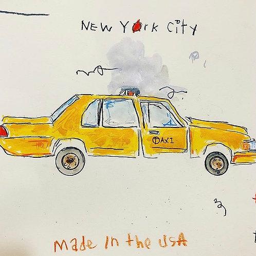 Taxi 11x14 (paper)