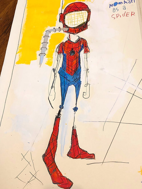 MoonMan as a Spider (paper) 30x20