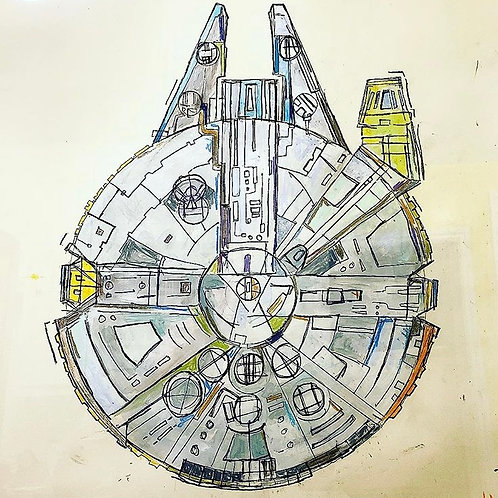 Millennium Falcon (paper) 36x24