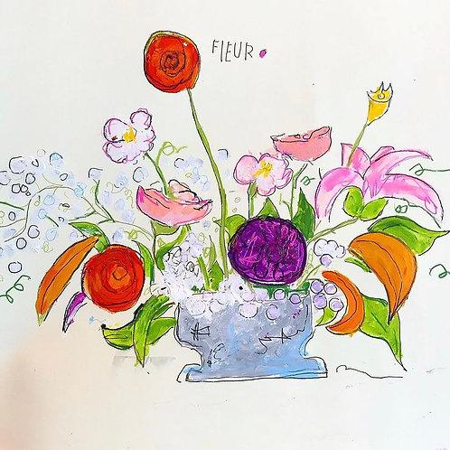 Fleur 16x12