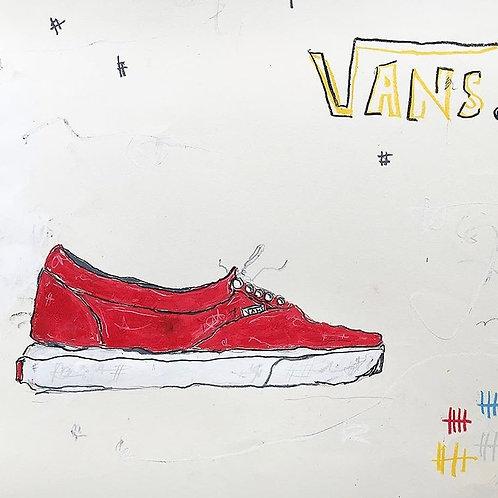 Red Vans (paper) 11x14