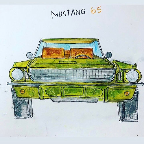 Mustang 65 11x14