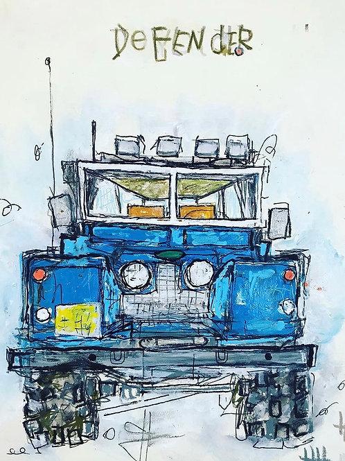 Defender Blue 8x10