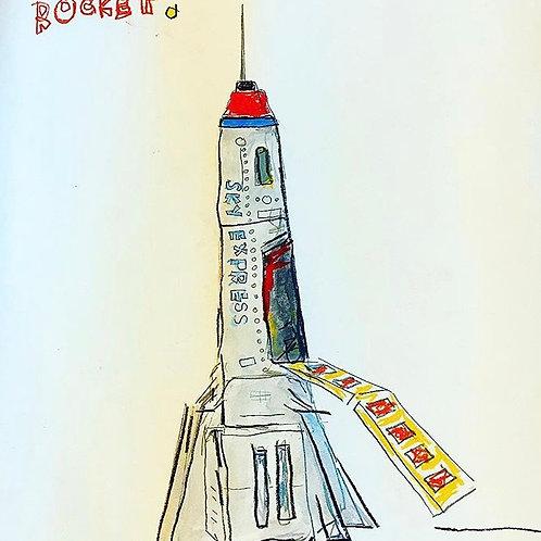 Rocket (paper) 16x20