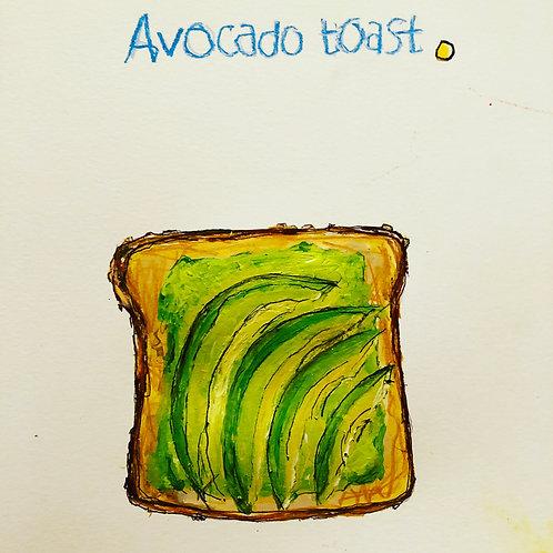 Avocado Bread (paper) 11x14