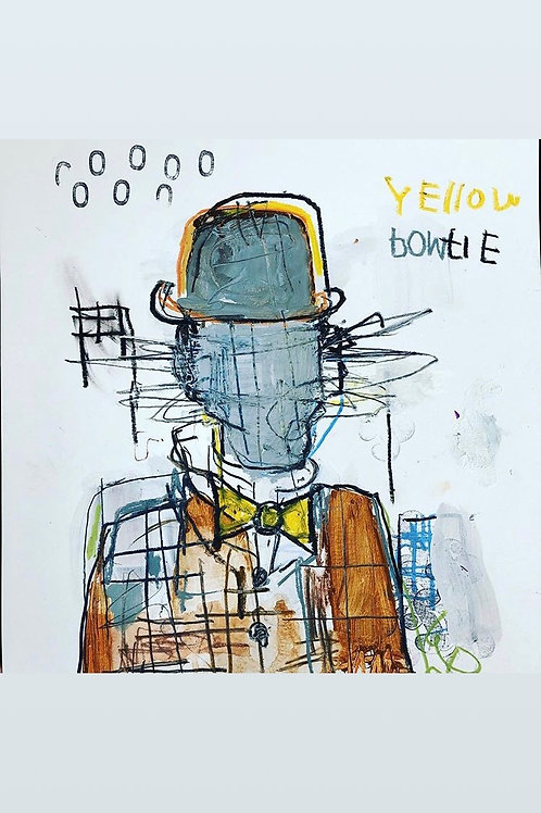 Yellow bowtie 11x14 paper