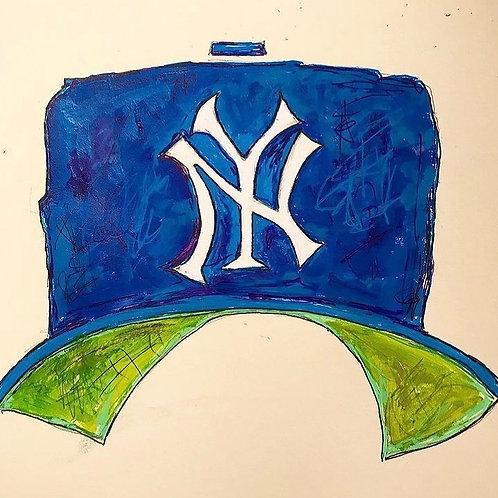 Yankees Hat 8x10