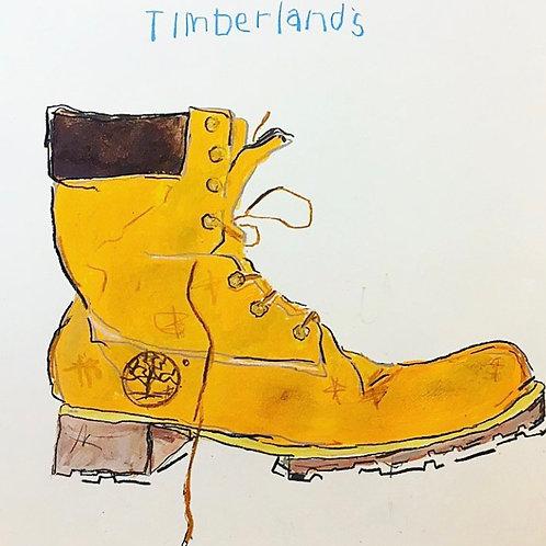 Boot (paper) 16x20