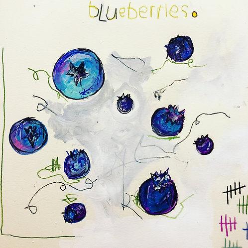 Blueberries 8x10 paper