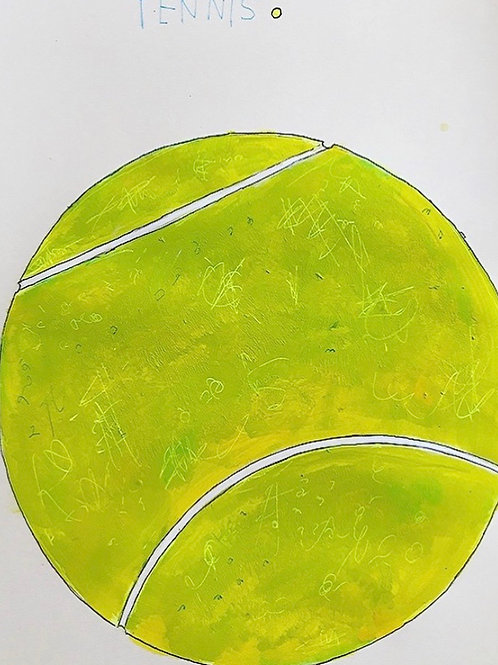 Tennis ball 16x12