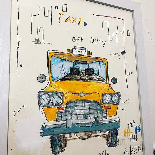 Taxi 16x20 paper