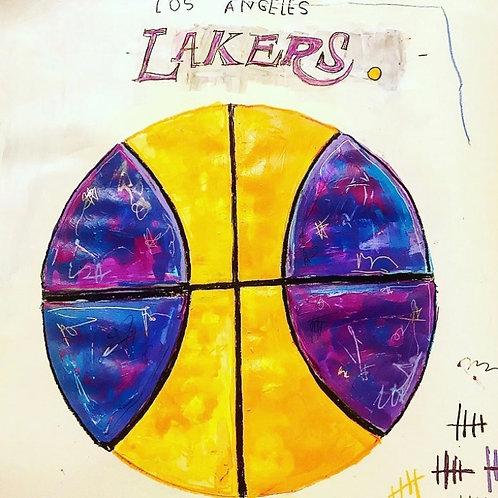 Lakers ball 16x20