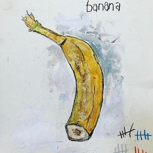 Sliced Banana 8x10 paper