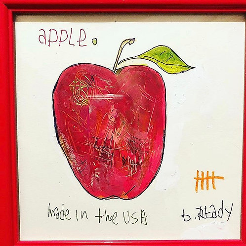Apple (paper) 6x6 framed
