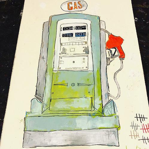 Gas Pump (paper) 36x24