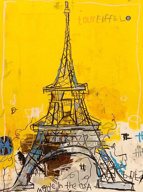 Tour Eiffel (paper) 11x14
