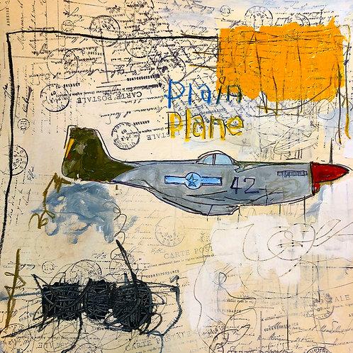Plain plane 11x14 paper
