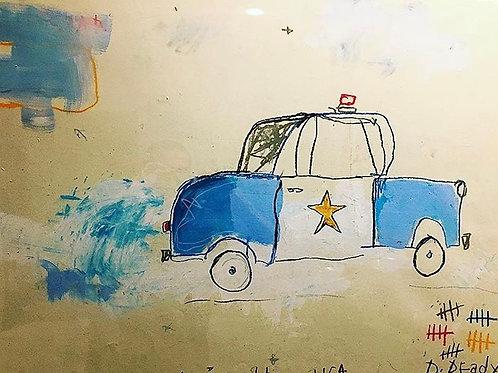 Cop car (paper) 36x24