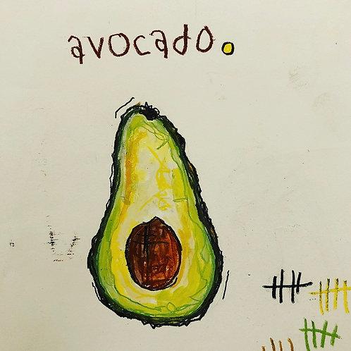 Avocado (paper) 8x10