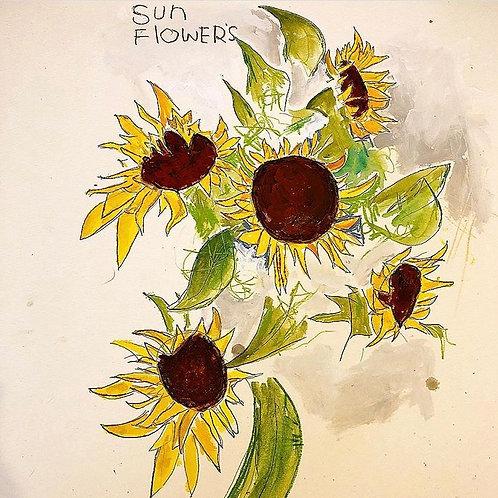 (SunFlowers) 16x20 Paper