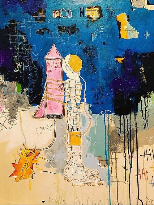 MoonMan (canvas) 30x40