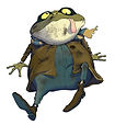 Toad from Superbot children's book. DavidFicklin Books