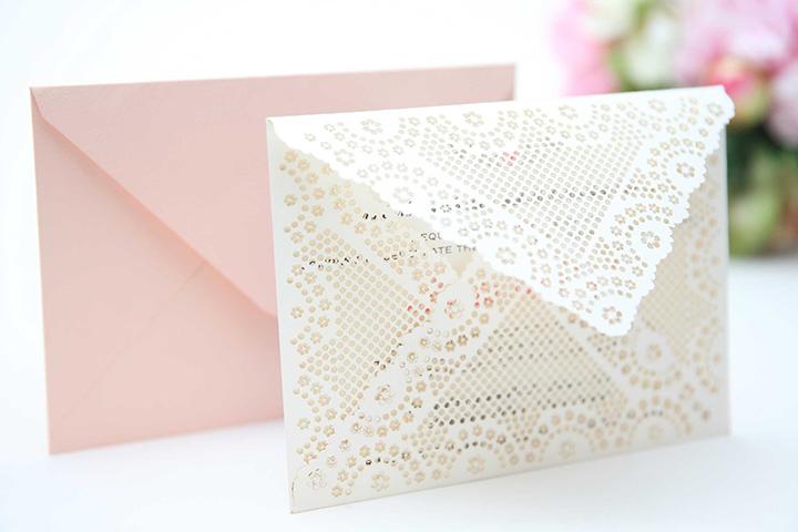 Laser Lace Envelope