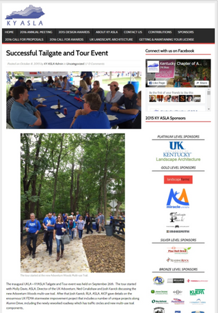 UKLA/KY-ASLA Tailgate Event Showcases Bell Projects