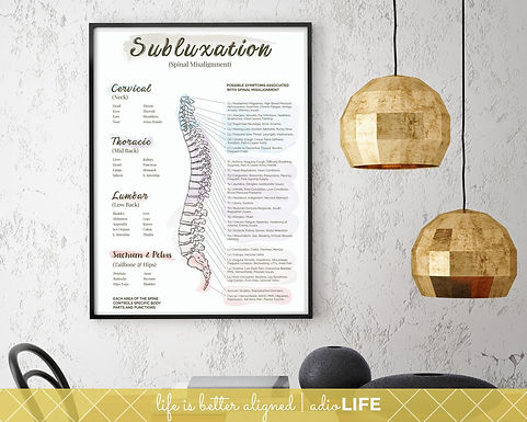 Subluxation Chart: Chiropractic Office Poster