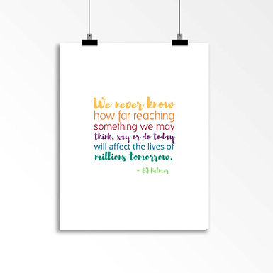 BJ Palmer Quote: Wall Art