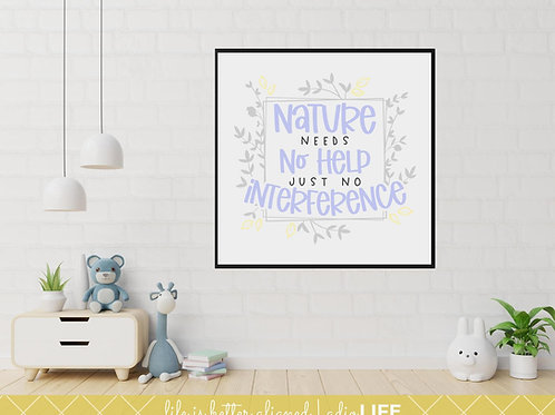 Nature Needs No Help Just No Interference: Chiro Inspired poster