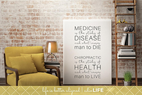 Medicine is the study of disease and what causes man to die: Wall Art