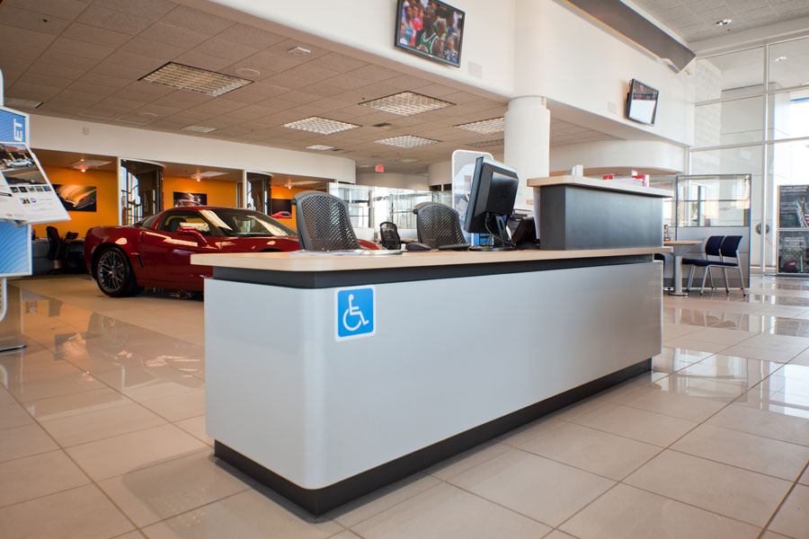 Chevrolet-welcome-desk