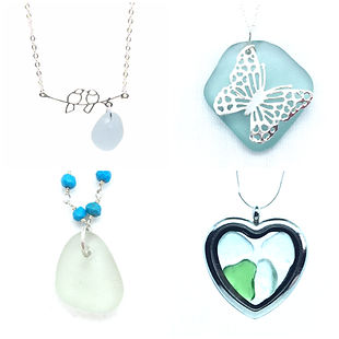 Loch Ness Sea Glass Necklaces