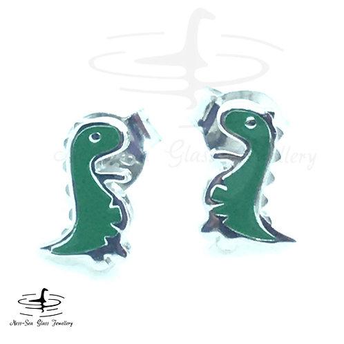 Children's Sterling Silver Nessie Earrings