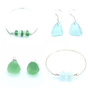 Loch Ness Sea Glass Bracelets and Earrings