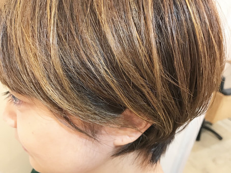 Lib hair 町田 『ショートカットにハイライトを入れたら小顔効果でます。』